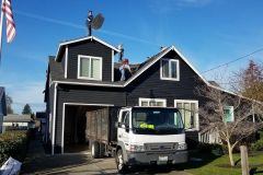 Roof installation for Renton, WA, Home with truck outside