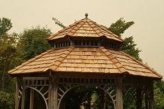 After: Gazebo with Cedar Shake Roof Installation in Enumclaw, WA