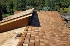 Close up of Cedar Shake Roof Installation in Maple Valley, WA